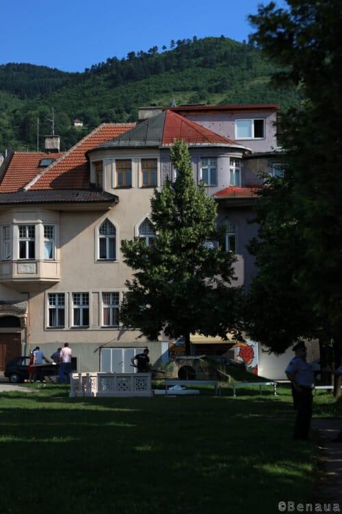 Photo d'un parc de Sarajevo en Bosnie Herzégovine