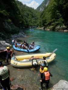Photo de la riviere Tara au montenegro - rafting