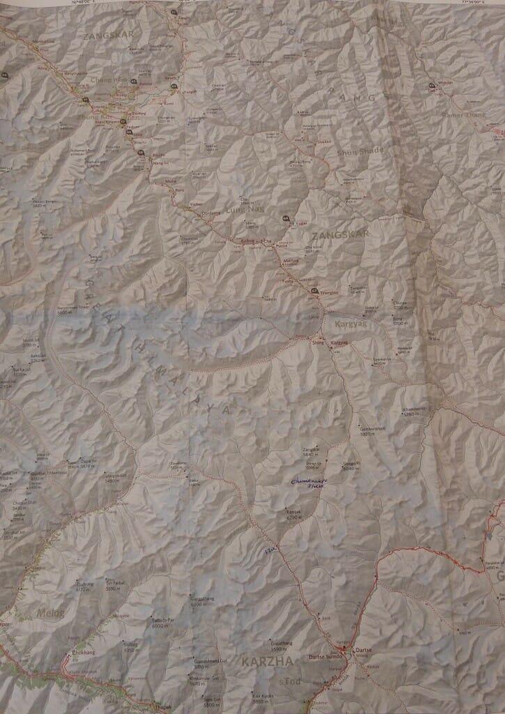 Carte Vallée du Zanskar 2