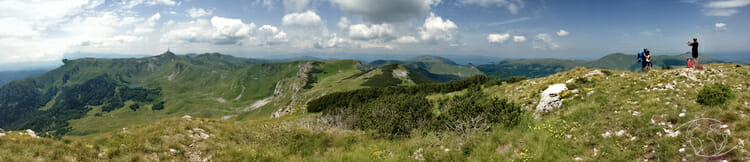 Panorama en haut du Parc Biogradska Gora au Monténégro