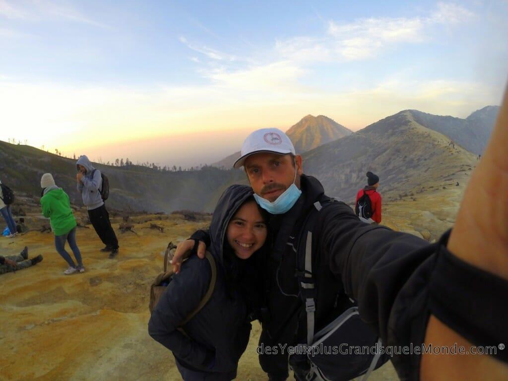 Ascension du Volcan Ijen à Java en Indonésie