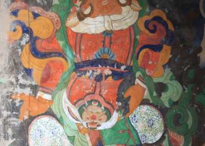 Monastères bouddhistes au Zanskar en Himalaya - Peinture murale à Darsha