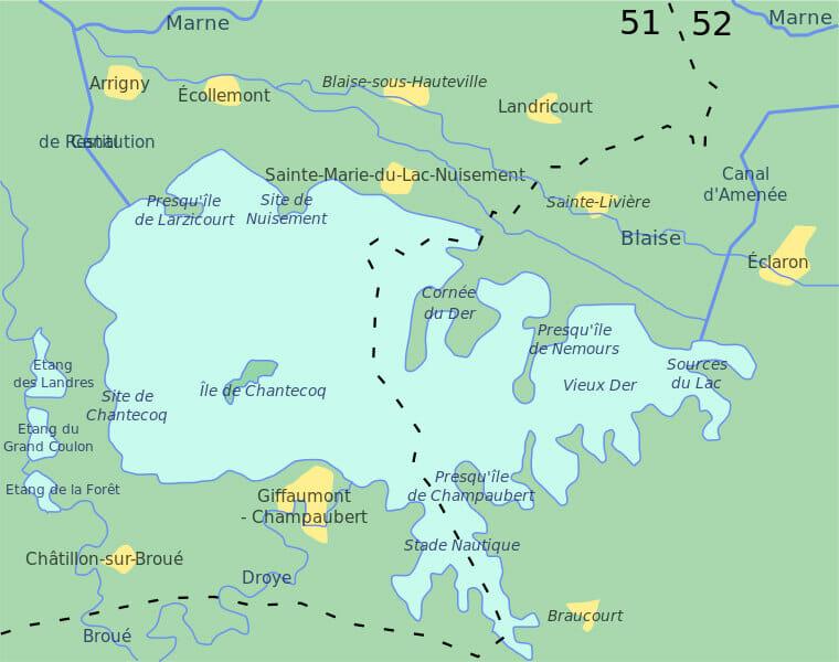 Carte du Lac du Der