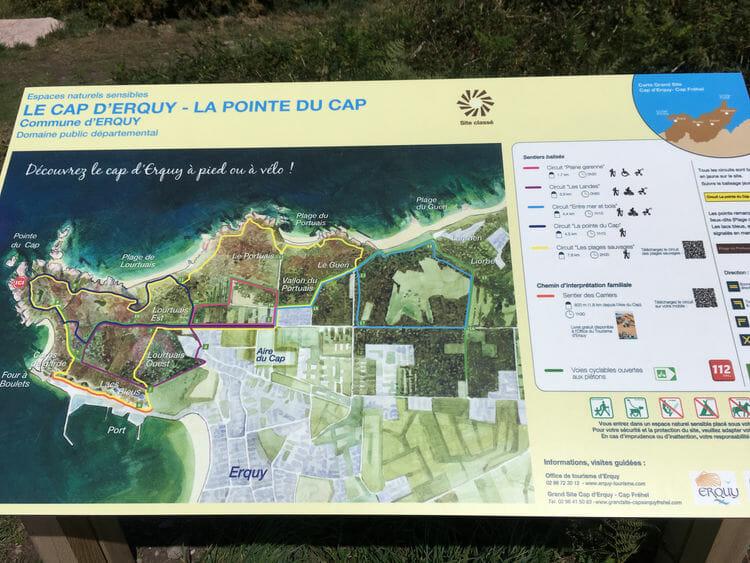 Fréhel et Erquy - Carte Cap d'Erquy