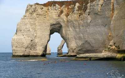 Falaises d'Etretat : boucle alternative par la plage d'Antifer