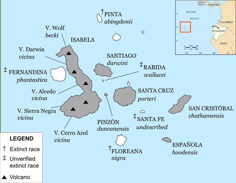 Carte Iles Galapagos