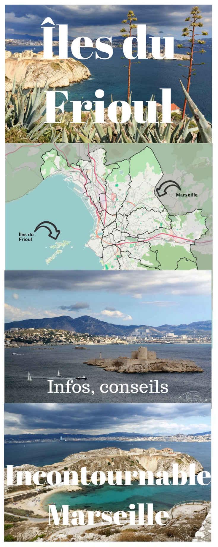 Visiter ces magnifiques Îles du Frioul : des infos, les horaires et tarifs sur la navette du vieux port de Marseille, des conseils pour se balader sur les iles du Frioul, des photos pour s'inspirer.