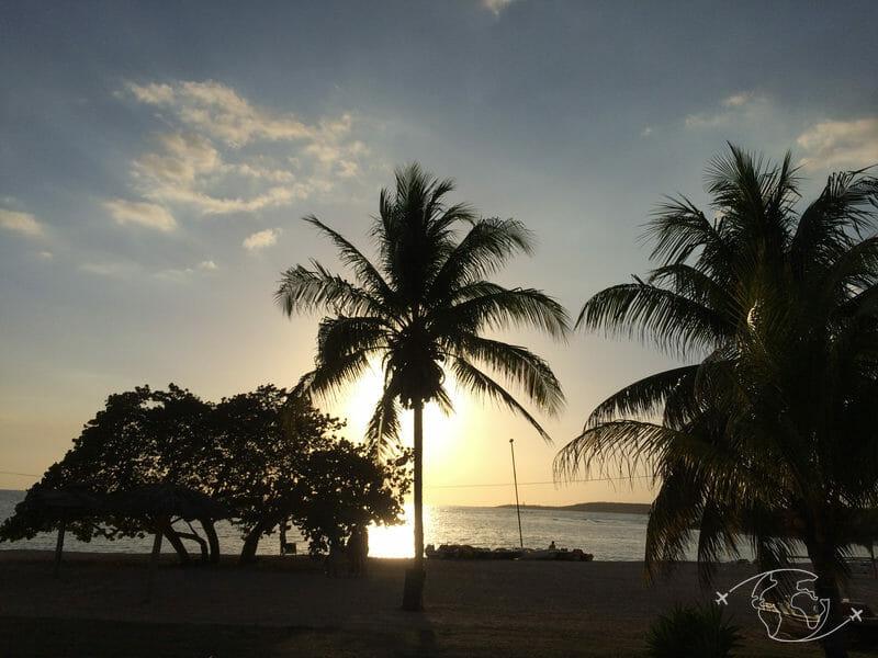 Plongée à Cuba - Coucher de soleil sur la plage du complexe hôtelier - Rancho Luna