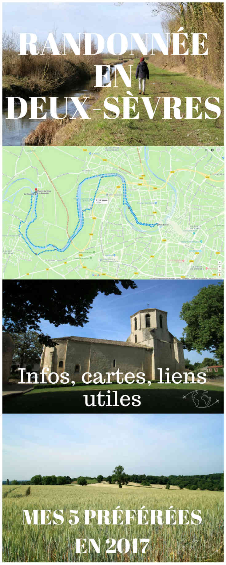 Vous souhaitez randonner en Deux-Sèvres ? Trouvez ici les liens utiles pour trouver et préparer votre randonnée et des infos sur mes 5 randonnées préférées en 2017 #randonnée #deuxsevres #niort