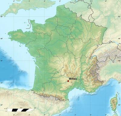 400px carte France - Millau