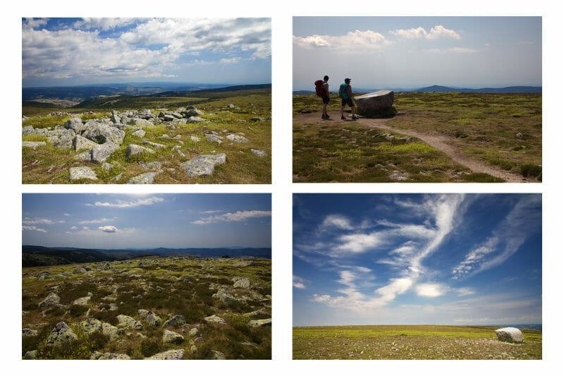 Chemin de Stevenson - Au sommet du Mont Lozère
