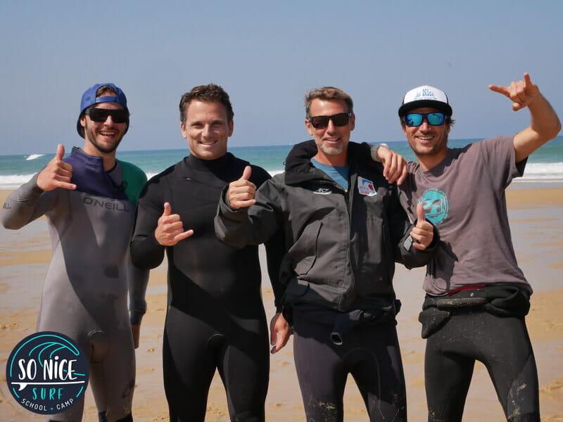 Equipe de l'Ecole de Surf - So Nice Surf School