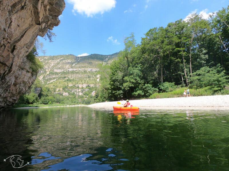 Kayak dans les Gorges du Tarn