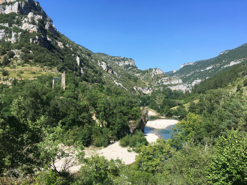 Plages avant Ste Enimie - Gorges du Tarn