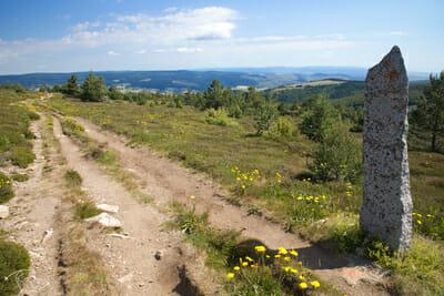 Chemin de Stevenson - Sentier sur le Mont Lozère - Vue de la vallée