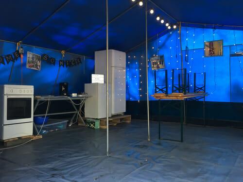 So Nice Surf Camp - Tente cuisine - Ecole de surf