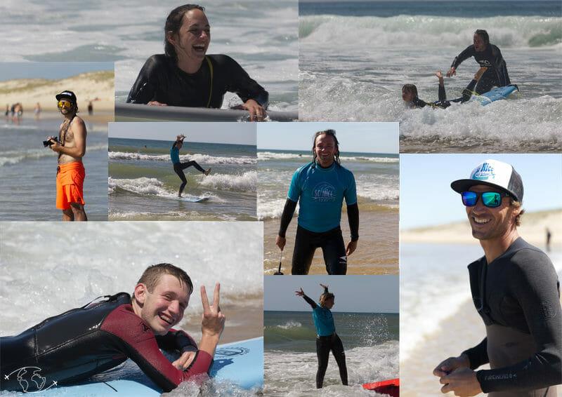 Top ambiance à l'Ecole de Surf