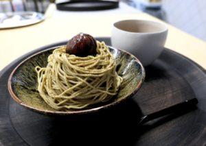 カネ十農園表参道のほうじ茶モンブラン