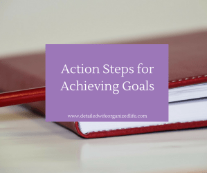 Action Steps for Achieving Goals