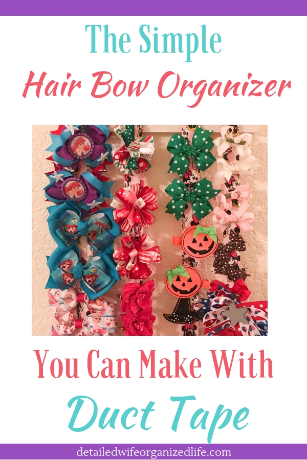 A Hair Bow Organizer You Can Make With Duct Tape