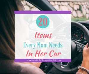 20 Items Every Mom Needs In Her Car