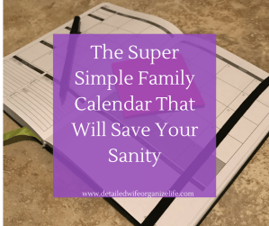 The Super Simple Family Calendar That Will Save Your Sanity