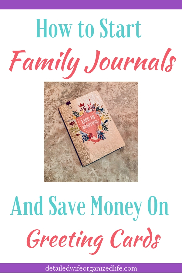 How to Start a Family Journal and Save Money on Greeting Cards