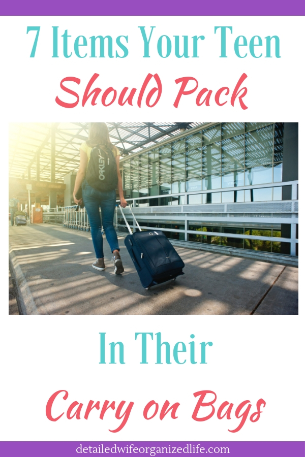 7 Items Your Teen Should Pack In Their Carryon Bags