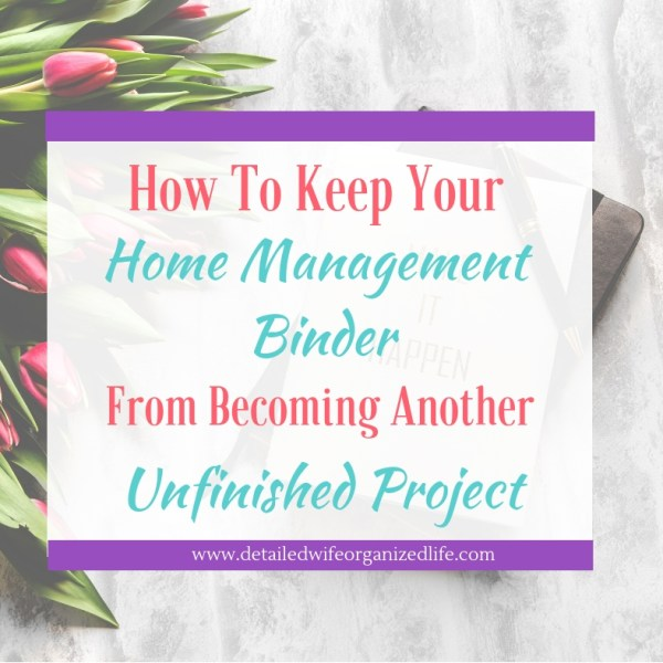 How to Make Your Home Management Binder Useful