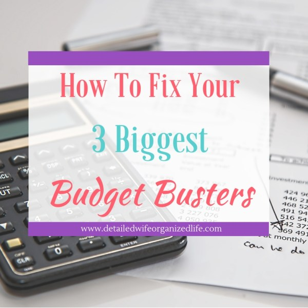 The 3 Biggest Budget Busters and How to Fix Them