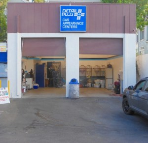 Exterior of detail shop at Detail Plus Rainbow Carwash