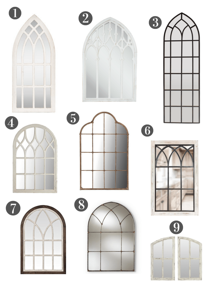 9 Cathedral Windowpane Mirror Ideas!