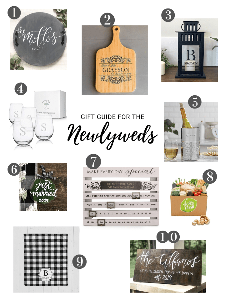 Gift Guide for the Newlyweds!