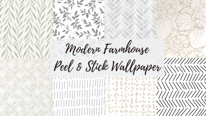 Neutral Farmhouse Peel & Stick Wallpaper!