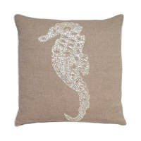 Beaded Seahorse Pillow | Details of Design