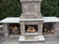 Concrete Block Outdoor Fireplace Design Pictures to Pin on ...