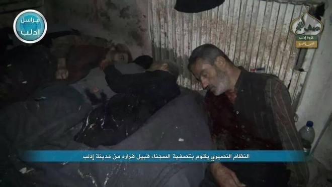 جريمة النظام السوري - اعدام المعتقلين في الأمن العسكري بمدينة ادلب من قبل قوات النظام ومخابراته