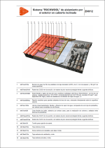 """Sistema """"ROCKWOOL"""" de aislamiento por el exterior en cubierta inclinada"""