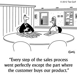 sales selling training cartoon marketing cartoons funny process salesperson learning techniques closing funnel gap between tips bridge business customer customers