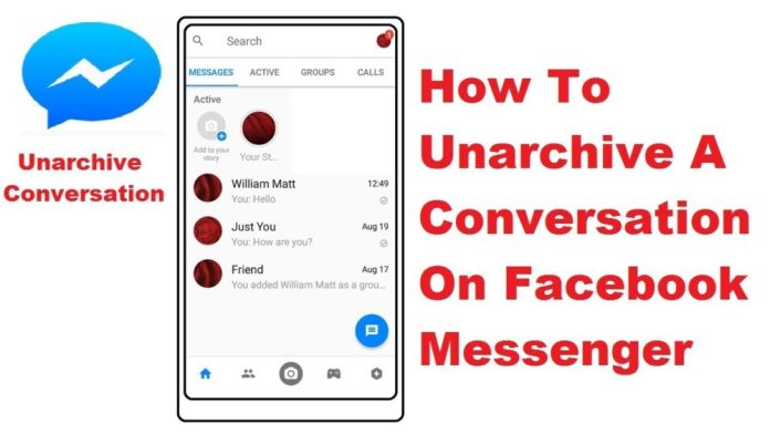 Unarchive the Archived Messages on Facebook