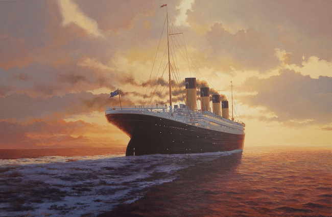 The only Ship that was sunked by an iceberg, That is the Titanic.