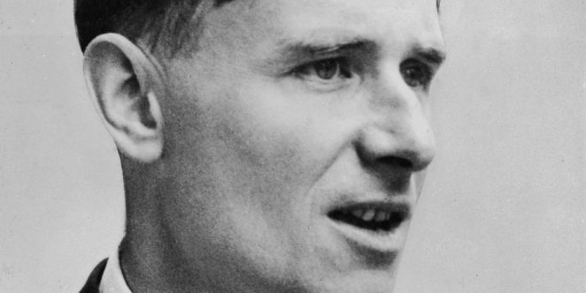 A headshot portrait of British born novelist and essayist Christopher Isherwood (1904- 1986), circa 1945. (Photo by Hulton Archive/Getty Images)