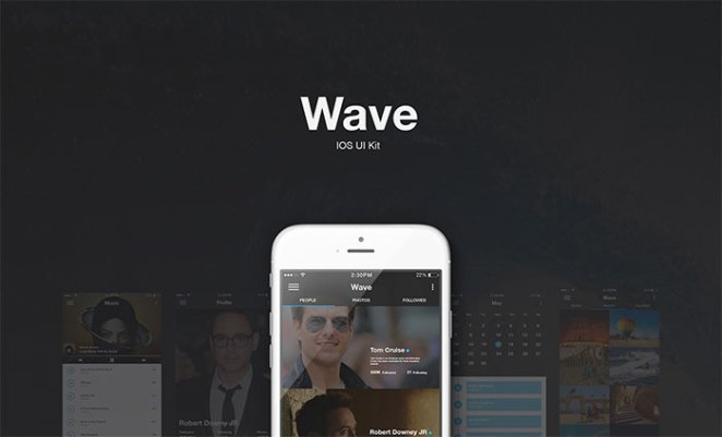 Wave - Free UI Kit