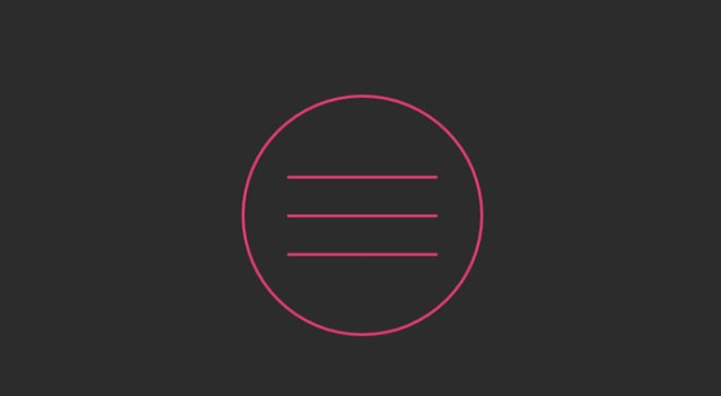 Hamburger Icon CSS3 ONLY Animation