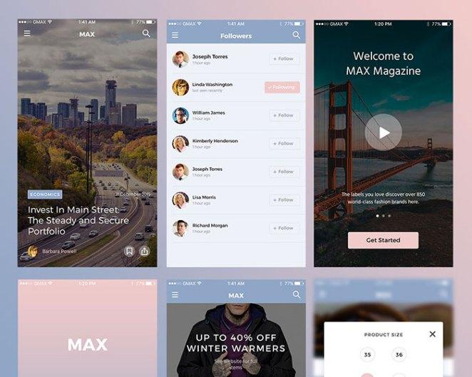 MAX UI kit freebie
