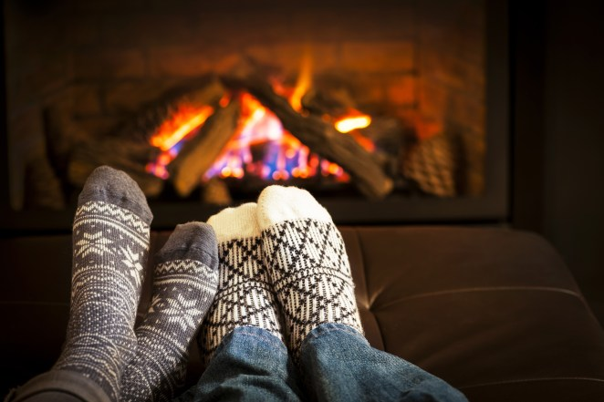 3. Winter Chills & Cozy Cuddles At The Fireplace