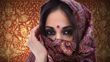 Women wearing Bindi