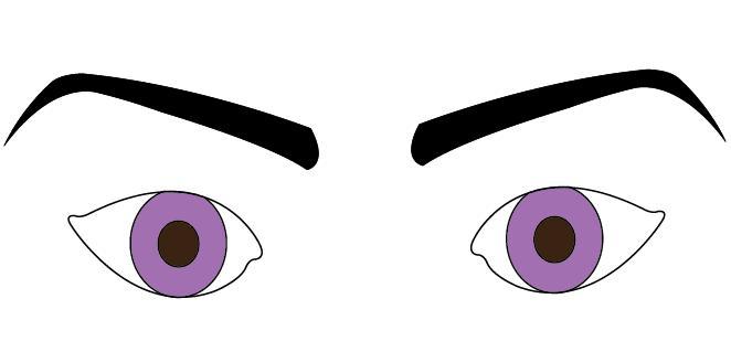 Angled Eyebrows