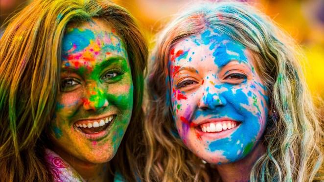 Celebrating Holi Festival - Festival of colours