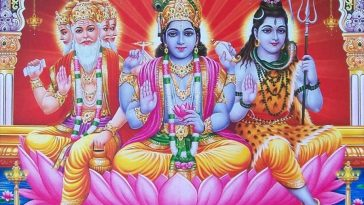 symbols of the Trinity of Hindu deities